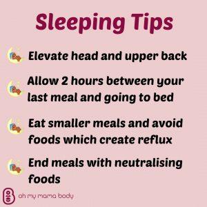 Sleeping tips for reducing heartburn
